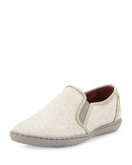 Donald J Pliner Maya Beaded Slip-On Sneaker, White