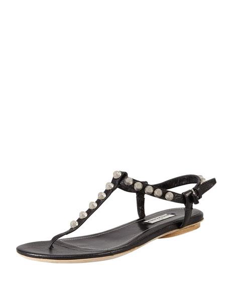 Balenciaga Nickel Studded Thong Sandal