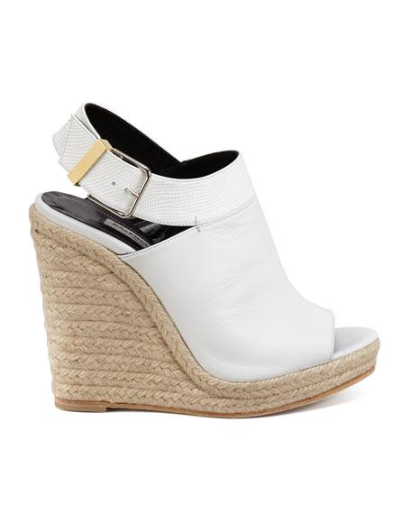 Slingback Glove Wedge Sandal, White