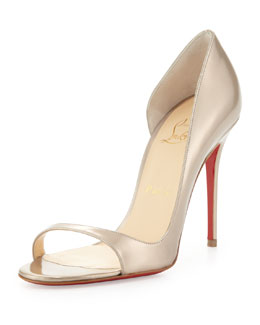 Christian Louboutin Toboggan Specchio Red Sole Half d'Orsay Pump