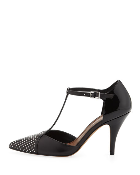 Trove Studded T-Strap Pump, Black