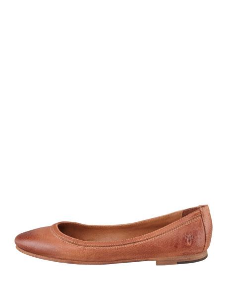 Carson Ballerina Flat, Cognac