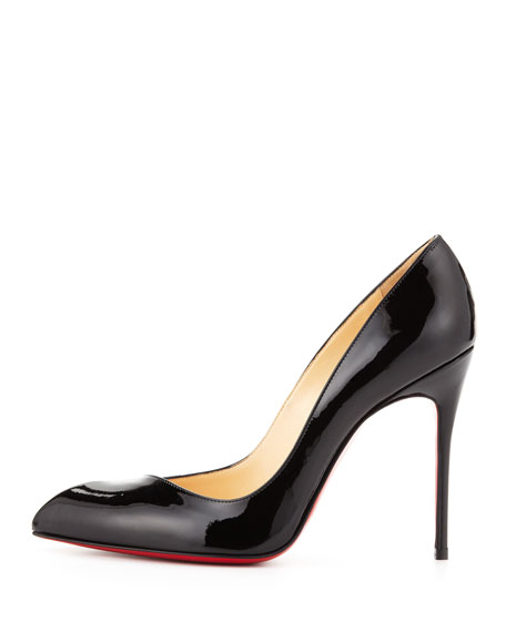 9ebf6b9cbc6 Corneille Asymmetric Red Sole Pump Black