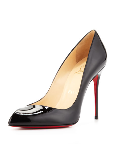 Corneille Asymmetric Red Sole Pump, Black