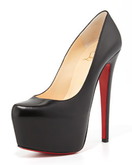 Christian Louboutin Daffodile Platform Red Sole Pump, Black