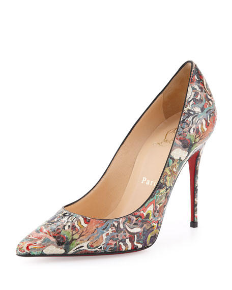 Christian Louboutin Decollete Python Pump, Multicolor