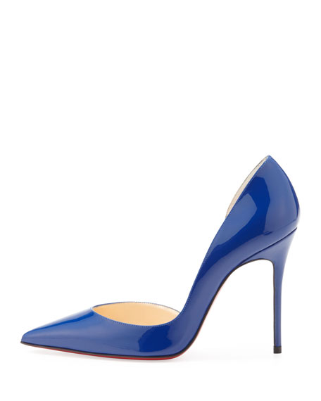Iriza Patent Pointy Red Sole d'Orsay Pump, Neptune