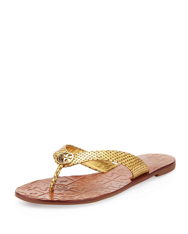 448f40a5b6743f Tory Burch Thora Logo Thong Sandals