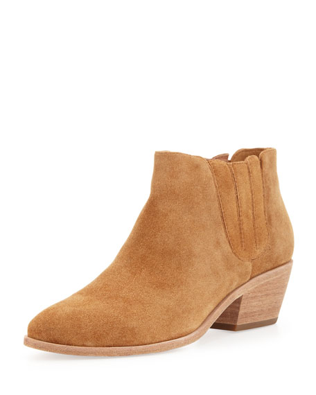 Barlow Suede Stretch Ankle Boot