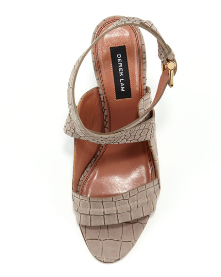 Pace Crocodile-Print Sandal