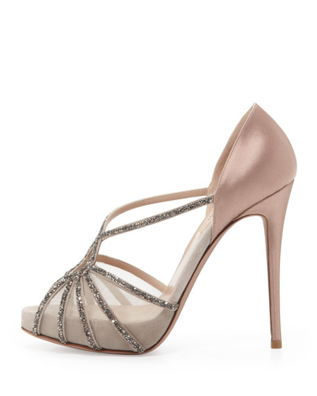 Valentino Dia Crystal and Satin Evening Pump