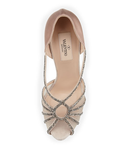 Dia Crystal and Satin Evening Pump