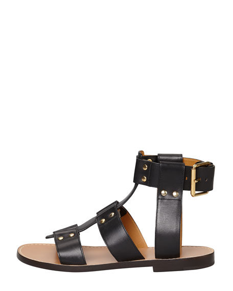 Chloé Studded leather sandals K559OwE4