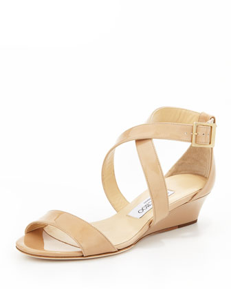 Jimmy Choo Jimmy Choo Chiara Demi-Wedge Crisscross Sandal