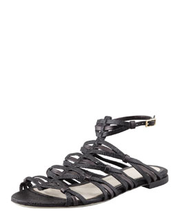 Jason Wu Strappy Flat Sandal, Black