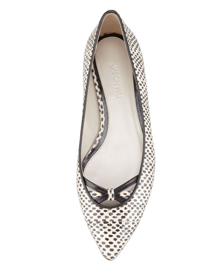 Watersnake Ballet Flat, Black/White