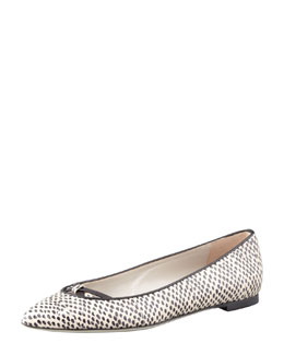 Jason Wu Watersnake Ballet Flat, Black/White
