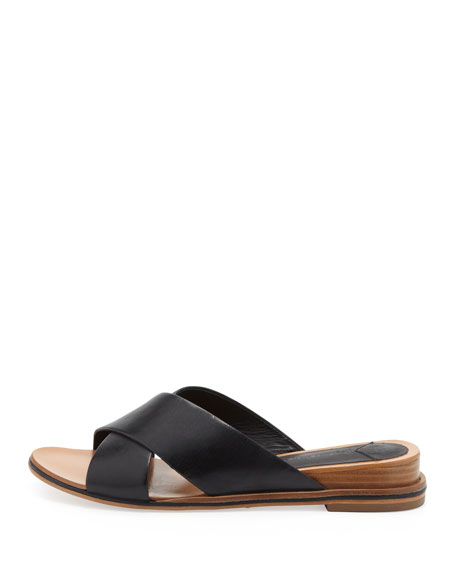 Pete Crisscross Leather Slide