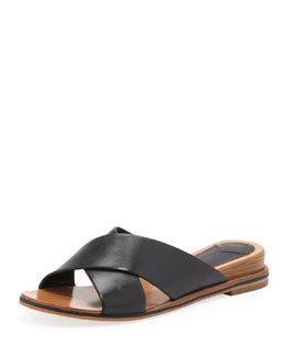 10 Crosby Derek Lam Pete Crisscross Leather Slide