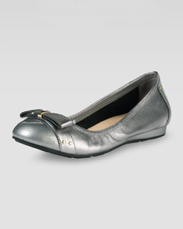 Cole Haan Monica Air Bow Ballerina Flat, Armor Metallic