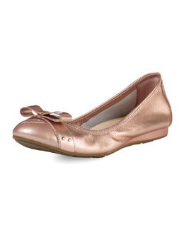 Cole Haan Monica Air Bow Ballerina Flat, Rose Gold Metallic