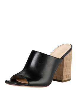 Cole Haan Luci High-Heel Cork Slide, Black