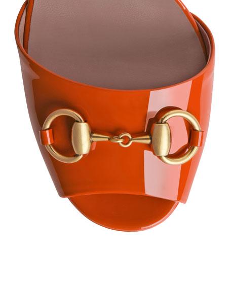 Claudie Patent Platform Sandal, Orange