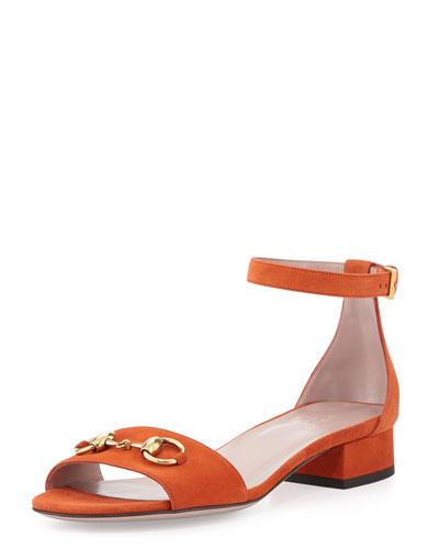Gucci Liliane Flat Suede Sandal