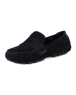 Cole Haan Sadie Deconstructed Shearling Moccasin, Black