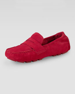 Cole Haan Sadie Deconstructed Shearling Moccasin, Red