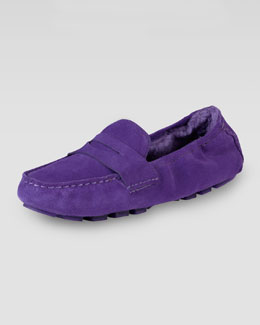 Cole Haan Sadie Deconstructed Shearling Moccasin, Purple