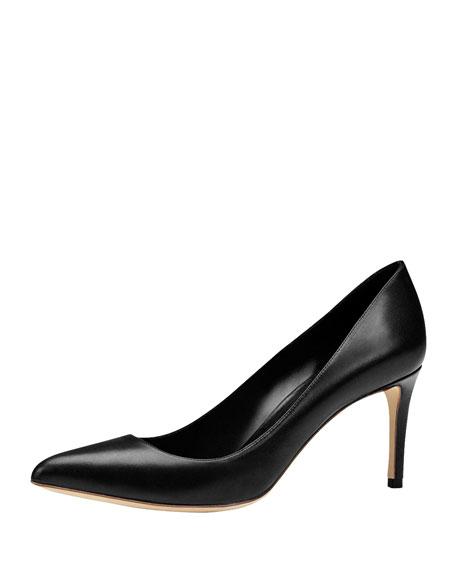 Gucci Brooke Mid-Heel Point-Toe Pump, Black