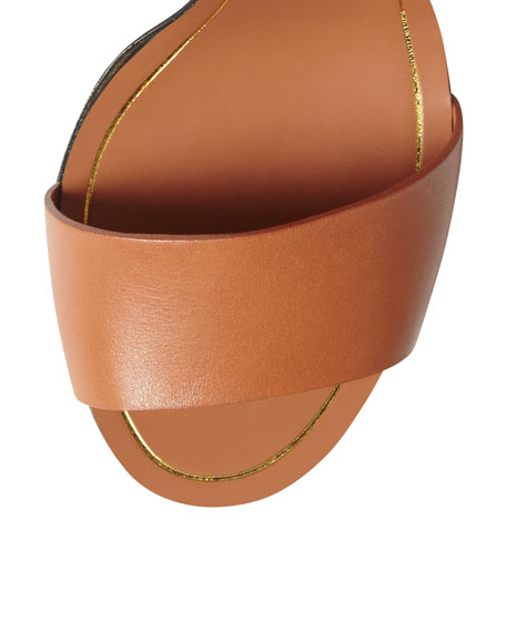 Tess Bicolor Leather Ankle Wrap Sandal