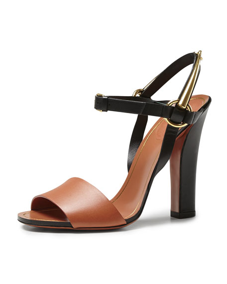 Tess Bicolor Leather Ankle Wrap Sandal