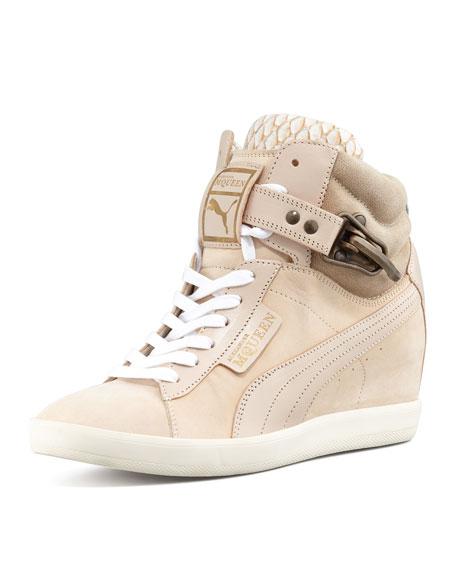 Joustesse Mid-Wedge Sneaker, Marshmallow