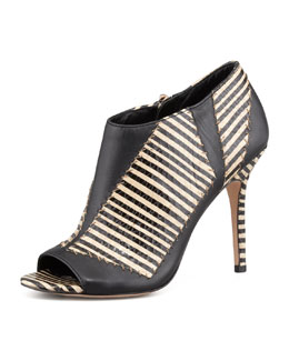 Rachel Roy Lark Striped-Snake Patchwork Bootie
