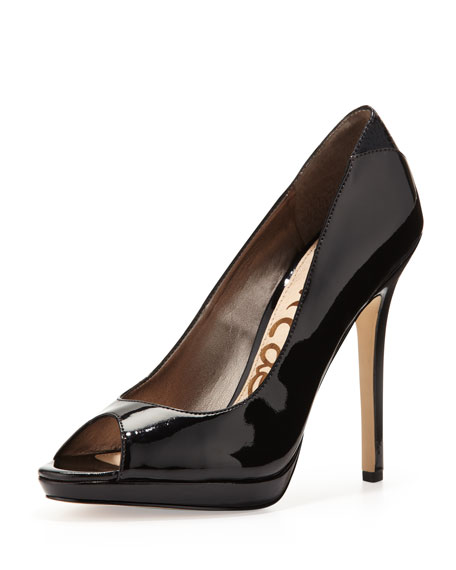Ella Peep-Toe Platform Pump, Black