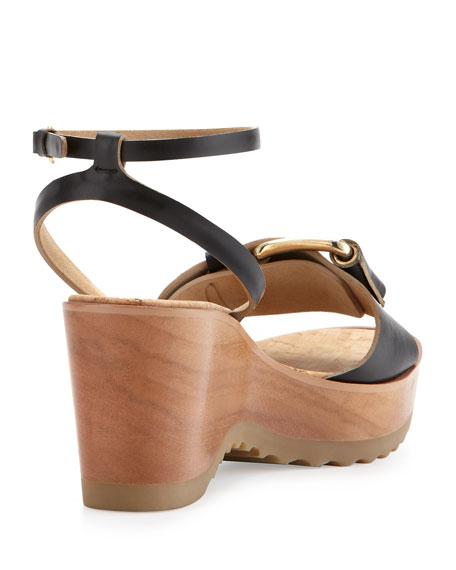 Heel Linda Black Wedge Ankle Wrap Cork MUpzSV