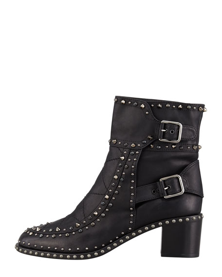 Badely Double-Buckle Boot, Black