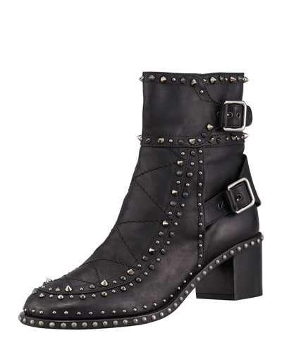 Laurence Dacade Badely Double-Buckle Boot, Black