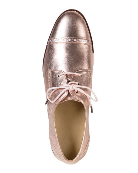 Gramercy Metallic Oxford, Rose Gold