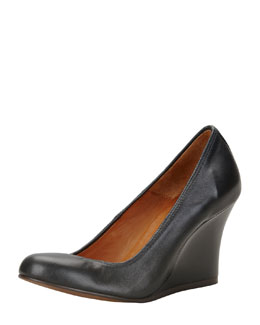 Lanvin Ballerina Wedge Pump, Black