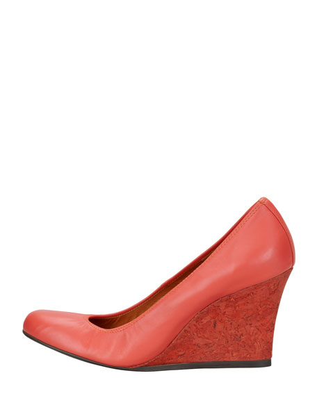 Ballerina Wedge Pump, Red