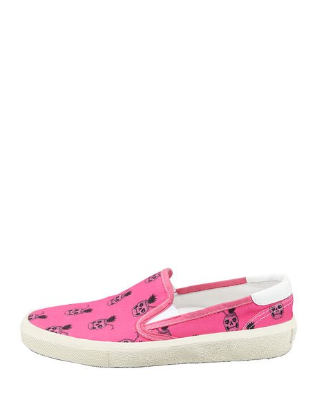 Pinaskullada Slip-On Sneaker, Pink/Black