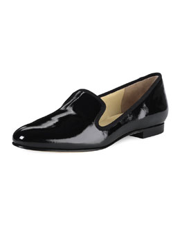 Cole Haan Sabrina Patent Smoking Slipper, Black