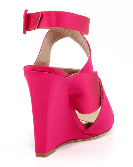 Wynne Crisscross Wedge Sandal, Pink
