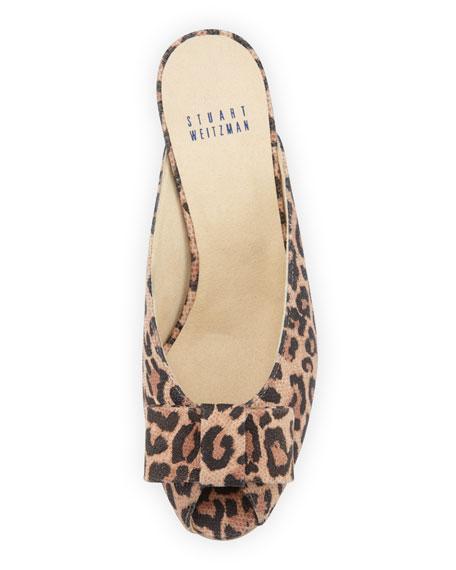 Candy Open-Toe Slipper, Leopard