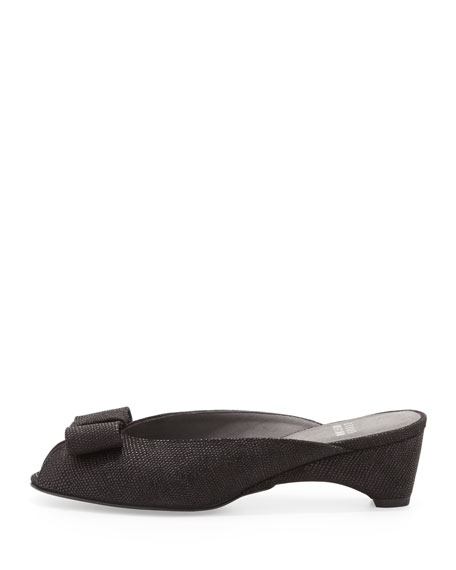Candy Peep-Toe Slipper, Black