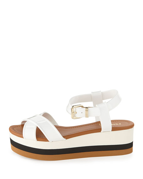 Crisscross PVC Flatform Sandal