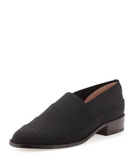 Stuart Weitzman Elastica Stretch Loafer, Black